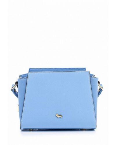 Голубая кожаный сумка Labbra