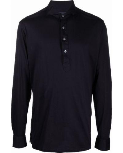 Niebieska koszula bawełniana Lardini