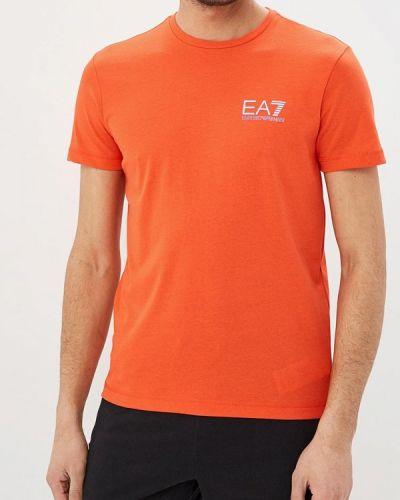 Оранжевая футболка Ea7