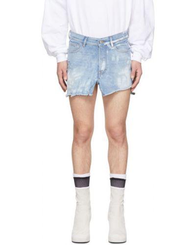 Srebro światło dżinsowa spódnica z mankietami przycięte Random Identities