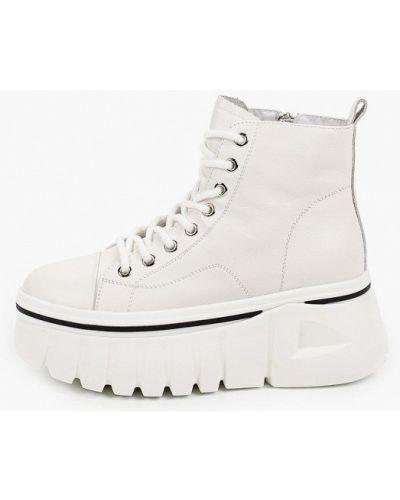 Бежевые кожаные ботинки Berkonty