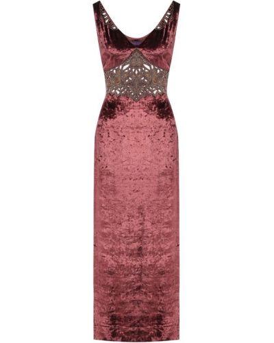 Платье розовое из вискозы Ralph Lauren
