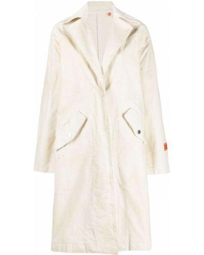 Хлопковое длинное пальто свободного кроя с нашивками Heron Preston