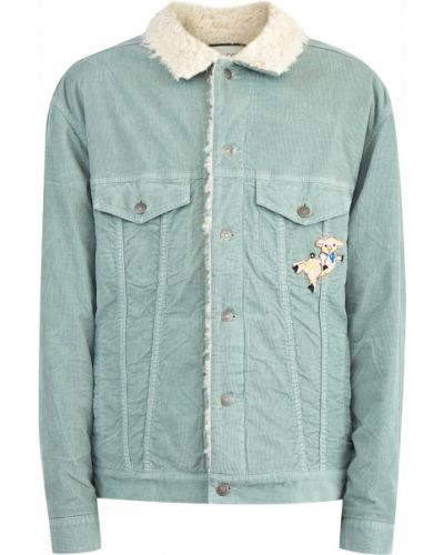 Куртка на пуговицах с вышивкой Gucci