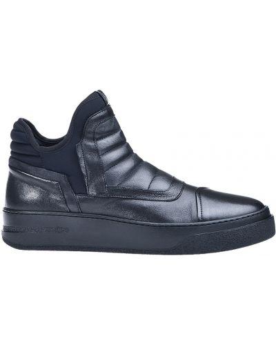 Кожаные ботинки осенние черные Bruno Bordese