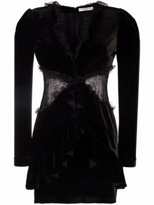 Черное ажурное платье Alessandra Rich