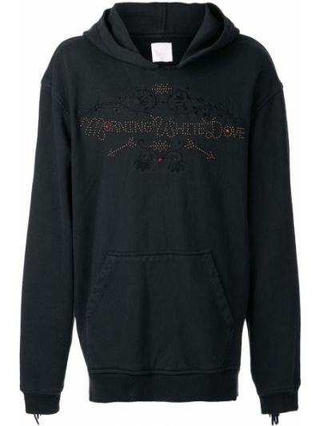 Czarna bluza z kapturem z haftem Alchemist