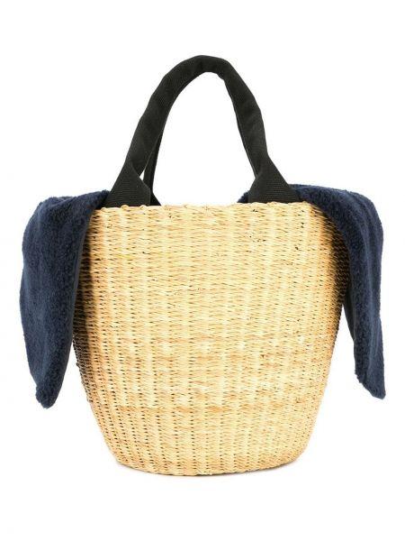 Соломенная сумка с ручками Muun