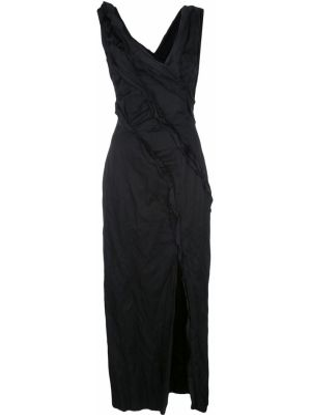 Черное платье миди без рукавов на молнии узкого кроя Jason Wu Collection