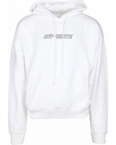 Bluza z kapturem z długimi rękawami z printem Off-white