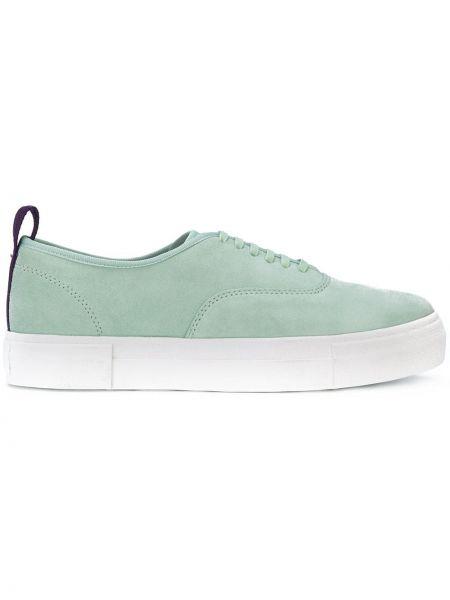Skórzane sneakersy zielony zamszowe Eytys