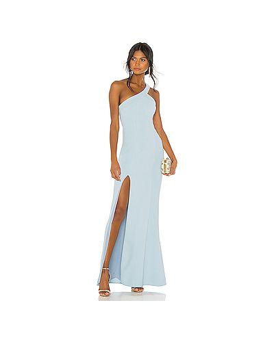Вечернее платье на молнии синее Nbd