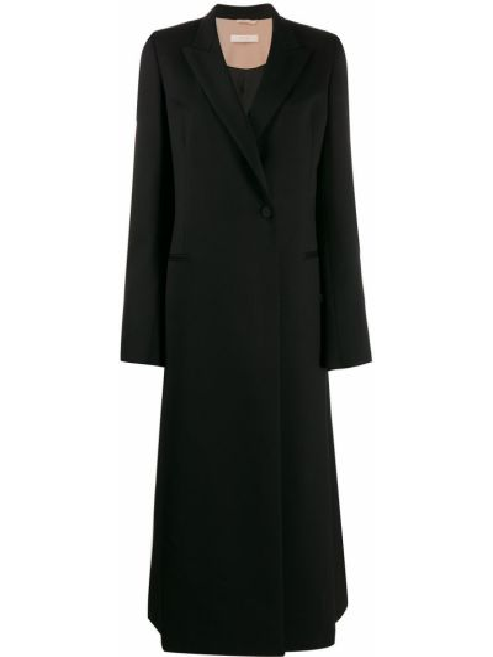 Шерстяное черное пальто Ssheena