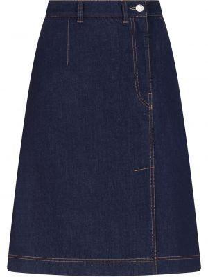 Хлопковая синяя джинсовая юбка с карманами Dolce & Gabbana