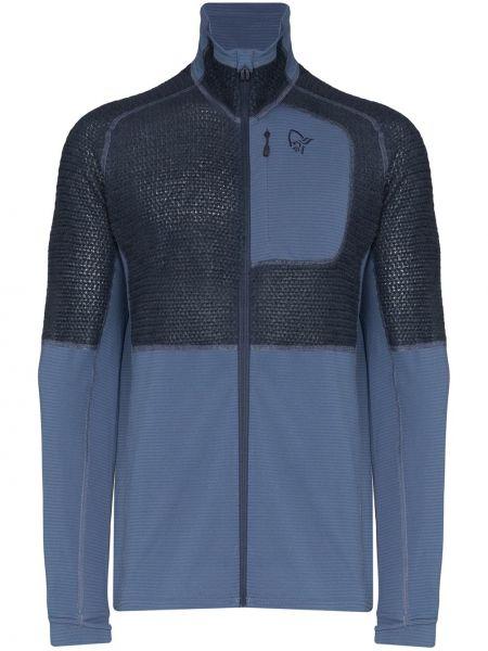 Синяя спортивная куртка с вышивкой Norrona