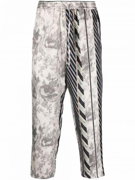 Серые брюки с принтом Pierre-louis Mascia