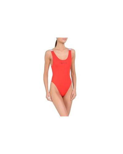 Слитный купальник красный Calvin Klein