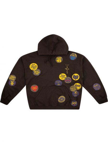 Коричневое худи с капюшоном с длинными рукавами Travis Scott Astroworld