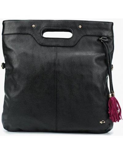 Кожаная сумка через плечо черная Carpisa