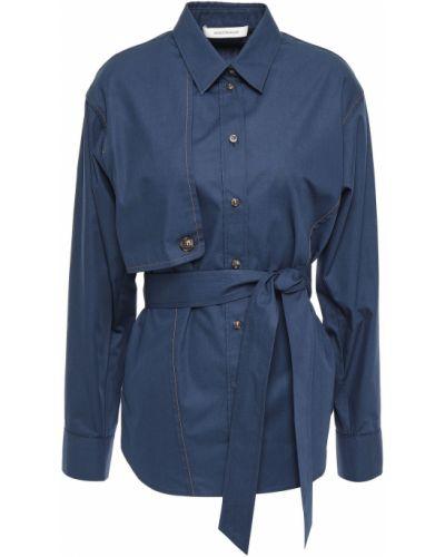 Niebieska koszula bawełniana z paskiem Cedric Charlier