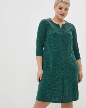 Повседневное платье осеннее зеленый Gorda Bella
