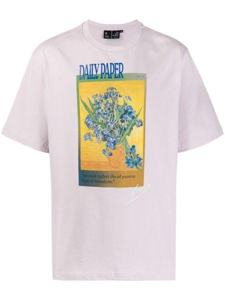 Koszula krótkie z krótkim rękawem karmazynowy prosto Daily Paper