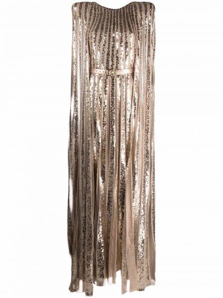 Шелковое платье макси Elie Saab