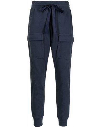 Хлопковые синие брюки карго узкого кроя Manning Cartell