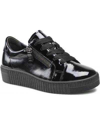 Buty sportowe skorzane - czarne Gabor