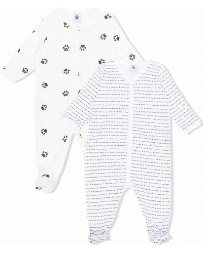 Biała piżama z printem Petit Bateau