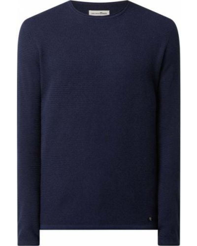 Sweter bawełniany - niebieski Tom Tailor Denim