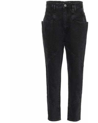 Czarny prosto bawełna bawełna jeansy na wysokości Isabel Marant