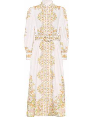 Платье льняное с цветочным принтом Zimmermann