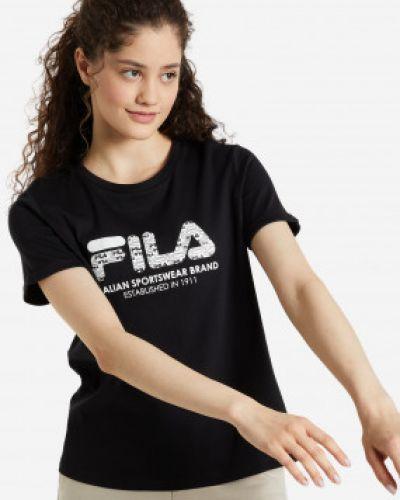 Черная футболка с короткими рукавами Fila