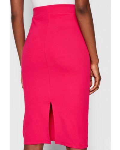 Różowa spódnica ołówkowa Tommy Jeans