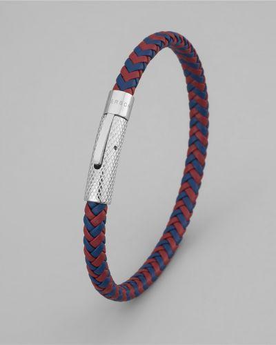 Плетеный браслет кожаный тонкий Henderson