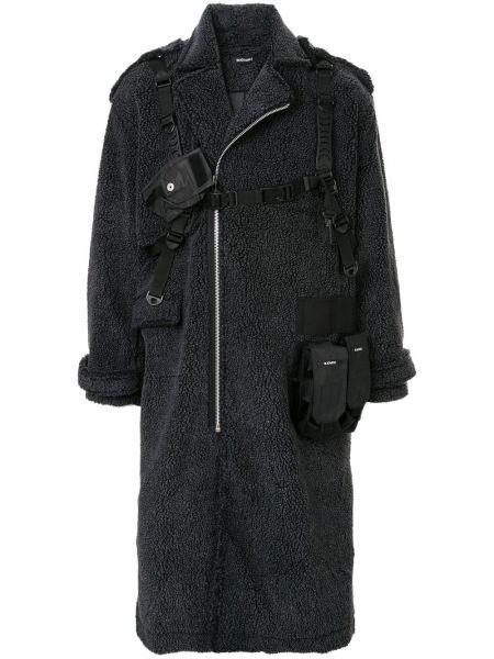 Klasyczny czarny płaszcz z akrylu Blackmerle