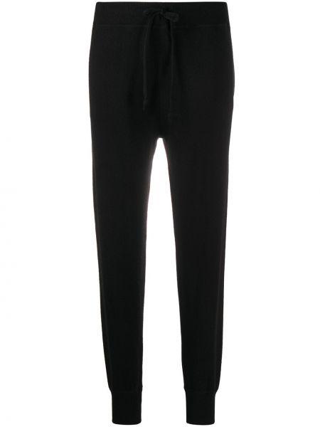 Прямые черные трикотажные брюки Polo Ralph Lauren