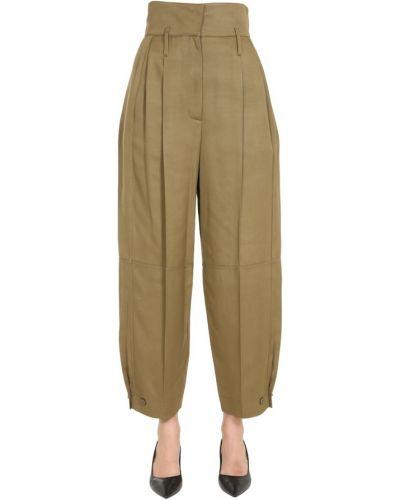 Beżowe spodnie z wysokim stanem bez rękawów Givenchy