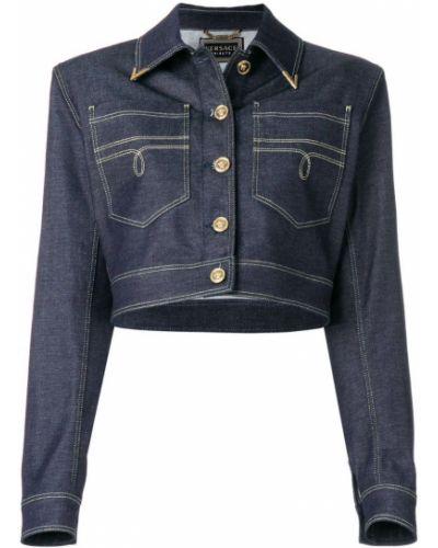 Синяя джинсовая куртка Versace