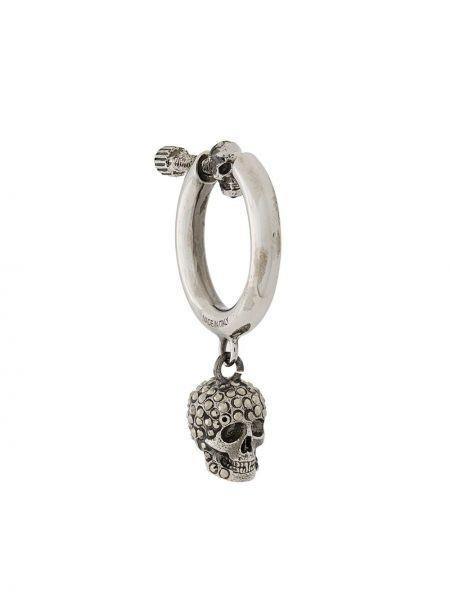 Kolczyki ze srebra z czaszkami Alexander Mcqueen