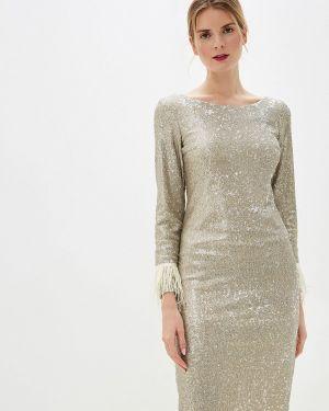 Вечернее платье осеннее золотой Anastasya Barsukova