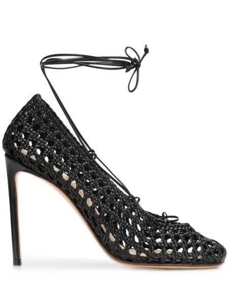 Туфли на каблуке на высоком каблуке с завязками Francesco Russo