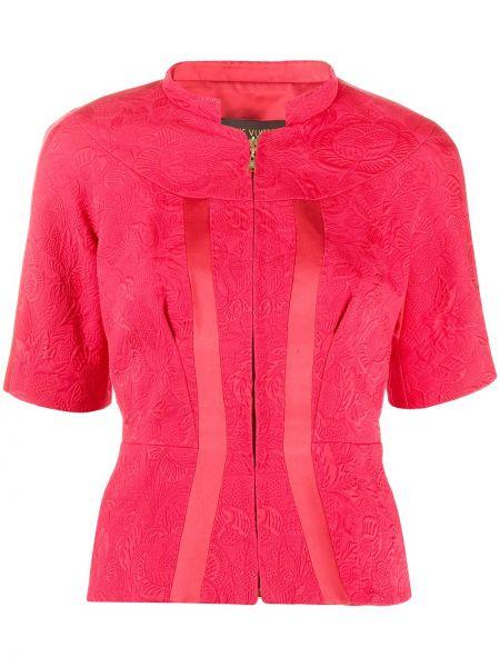 Bluzka z krótkim rękawem w kwiatowe wzory z wzorem Louis Vuitton Pre-owned