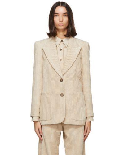 Удлиненный пиджак с подкладкой вельветовый с воротником Isabel Marant Étoile