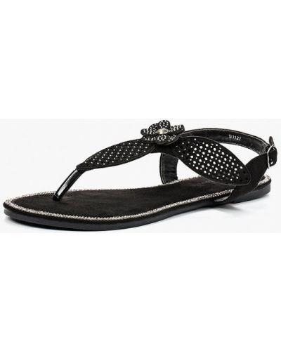 Черные сандалии замшевые Saivvila