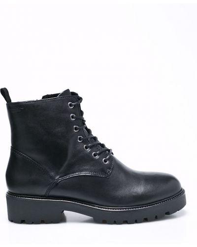 Кожаные сапоги на шнуровке на каблуке Vagabond