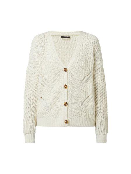 Biały sweter z dekoltem w serek Set