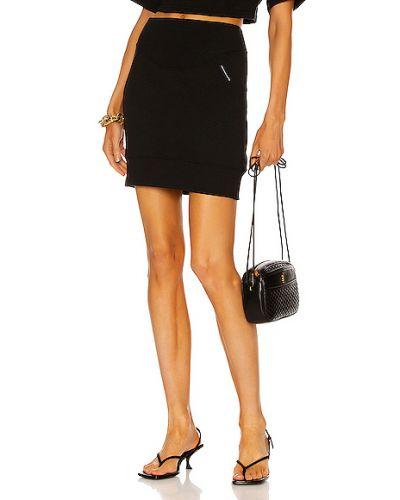 Трикотажная черная юбка мини с карманами T By Alexander Wang