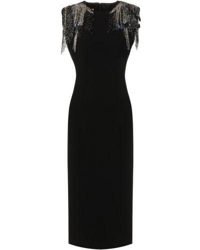 Платье из вискозы с декоративной отделкой Dries Van Noten